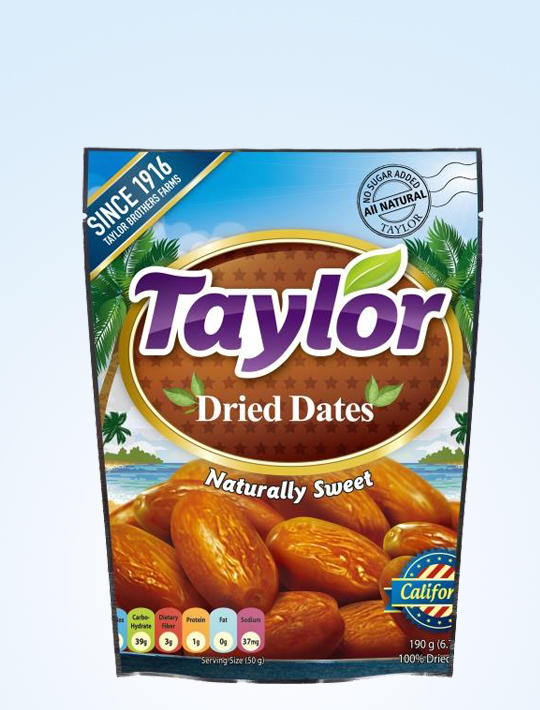 Taylor 100% Dried Dates 190g
